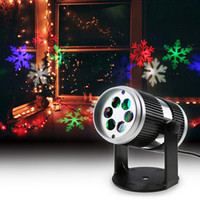 Wholesale Moving Color - christmas laser projector Activated Moving Dynamic Snowflake Film Projector Light Pattern Decoration Lamp laser christmas lights