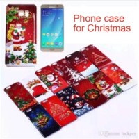 Wholesale Christmas Iphone 4s Covers - Christmas PC hard back Case Cover Santa Claus Cases For iphone 6 plus 5S 4S Samsung Galaxy S5 S6 S7 Note 4 7 Christmas snowflake Case