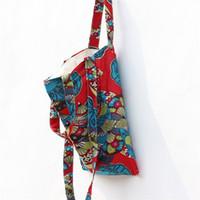 Wholesale Towel Zipper Wholesalers - Wholesale Women Cotton   Hemp Cloth Handle Slip Towel Triple Use Double Use Environmental Protection Shopping Literature Handbags