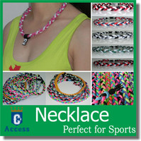 "Wholesale Titanium Necklaces Sports Green - 2017 Titanium Sports USA Baseball Tornado Twister Braided 3 Rope Necklaces Fit for team color 16"" 18"" 20"" 22"""