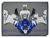 INJECTION NOUVEAU KIT DE CARROSSAGE 100% FIT POUR YAMAHA YZF1000 YZF R1 1998-1999 YZFR1 1998 1999 YZF R1 98 99 # SO296 BLANC BLEU