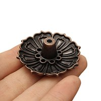 Atacado- 1PCS Lotus Flowers Pattern Incense Burner Stick Holder Incense Base Plug Decoração para casa