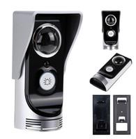 Wholesale Bell Door Motion Sensor - Wifi doorbell video peephole 0.3M pixels CMOS door camera IR Night vision PIR Motion Sensor Rainproof peephole camera door bell
