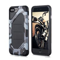 Wholesale Mobile Phone For Army - Army Camouflage Phone Case for iphone X 8 7 6 6S Plus 5 5s SE TPU+PC Shockproof Back Cover Case New Arrival Mobile Phone Accessories OPP Bag