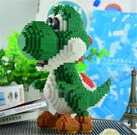 Wholesale Luigi Figure - 1500pcs Balody diamond Luigi Mario Anime building blocks action figure boys and girs DIY Troopa educational building Block 16030