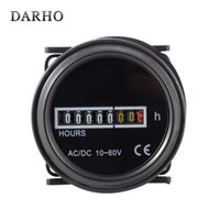Wholesale Mechanical Generator - Wholesale- DARHO DC 10-60V Round Hour Meter Counter Industrial Electronic Mechanical Timer for Car Motorcycle Dirt Bike Generator 12V HT853
