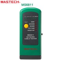 Wholesale Test Utp Cable - Wholesale-MASTECH MS6811 digital network cable tester with UTP and STP wiring Checks Test Meter