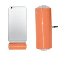 Wholesale Generic Cell - Wholesale- 1Pcs Mini Portable 3.5mm Stereo Mini Speaker For Cell Phone Smartphones MP3 MP4 Generic Smartphone Speakers