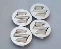 radmittenkappen embleme großhandel-4 teile / los Auto Styling 54mm ABS Suzuki Auto Abzeichen Radmitte Radkappe Rad Emblem Abzeichen Abdeckungen für SWIFT Sport SX4 Alto