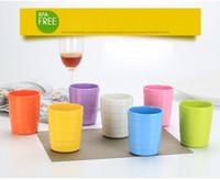 Wholesale Porcelain Cross - High grade A5 melamine multicolor cup Imitation porcelain restaurant water bottle Antiskid cross grain straight cup