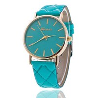 Wholesale Geneva Steel Watch - wholesale women dress geneva watch women rose gold color Fashion Watch women dress watches leather watches