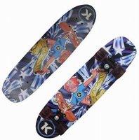 "Wholesale Wooden Skates - Wholesale-28"" Fashion Skate board Wooden Fish Board Speed Cruiser Skateboard Maple Flash Wheel Street Mini Longboard"