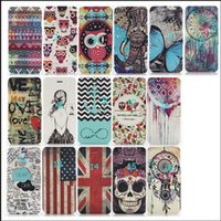 Wholesale Zebra Iphone Wallet Wholesale - Fashion Flower UK US Flag Zebra Wallet PU Flip Leather Case Cover With Card Slots Stand Holder For iphone6 6s and 6plus