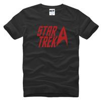 Wholesale Silver Star Tees - WISHCART classic movie Star trek T Men Tshirt Fashion 2016 New O Neck 100% Cotton T-shirt Tee Shirt Homme