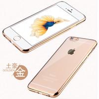 iphone gümüş kaplama toptan satış-TPU Kaplama çerçeve kapak siyah gümüş pembe altın renk kılıf iphone 6 için ultra-ince anti-parmak izi Kapsamlı koruyucu kapak