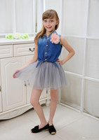 Wholesale Summer Baby Girl S - 2015 Summer Baby Girls Clothing Grey Puff Skirts Party Frozen Dress Mini Tutu Skirts Fall Spring Gloden Empire Waist Women's Clothing S