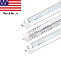 Wholesale replacement fluorescent bulbs - 45w T8 8FT LED Tube Light, Single Pin FA8 Base, 6000K Cold White,Fluorescent Bulb Replacement, Clear Cover, Dual-Ended Power (Pack of 25)