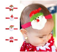 Wholesale Christmas Headband Cheap - Free shipping 6designs christmas season baby accessories cheap factory price wholesale headbands for kids 100pcs mini order