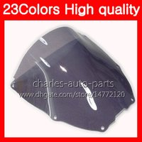 Wholesale honda rc51 motorcycle - 23Colors Motorcycle Windscreen For HONDA VTR1000 2000 2001 2002 2003 04 2005 2006 RC51 SP1 SP2 VTR 1000 Chrome Black Clear Smoke Windshield