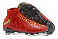 Wholesale Football Photos - MEN'S Hypervenom Phantom III DF FG Soccer Cleats DYNAMIC FIT FG WHITE BLUE PHOTO BLUE Shoes Pro Player Youth Daily Practice Football Boots