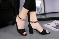 Wholesale Ms Open Office - The new summer sandals female high-heeled shoes with thick all-match shoes shoes with MS.