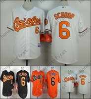Wholesale Cheap Authentic Cool Base Jersey - 2016 Baltimore Orioles 6 Jonathan Schoop Jersey White Black Orange Cool Base Stitched Authentic Baseball Jersey Cheap