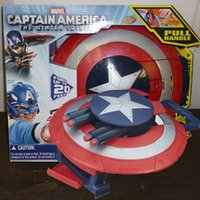 Wholesale Gear Wars - Zorn toys-Marvel movie Captain America 3: Civil War Super Soldier Gear Stealthfire Fired bullets Shield Toys for boys Plastic toy