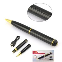 Mini câmera digital escondida AVI 1280x720 HD Spy Pen DVR Gravador de vídeo DV Camcorder Pen Listen Device Support 32G Micro TF Card