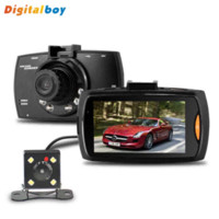 Wholesale H 264 Dual Lens Car - New G30B Dual Lens Car DVR H.264 Front Camera Full HD Car Camera Recorder 1280*1080P External Rear Camera 720*480P Dash Cam