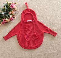 Wholesale Handmade Crochet Girls Tops - handmade babies knitting sweaters hooded sweatshirt infant crochet hoodies toddler girl boy outwear 2016 child spring autumn tops clothes