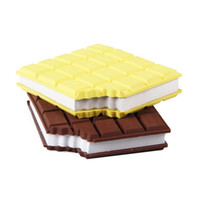 Wholesale High Quality Leather Notebooks - Mini Silicone Notepad Creative New Design Chocolate Notebook Multicolor For Student Stationery Articles High Quality 4 2wf C