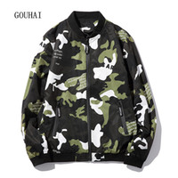 Wholesale Veste Camouflage - Wholesale- 2017 Spring New Mens Jackets And Coats Casual Plus Size M-4XL 5XL Veste Homme Camouflage Baseball Clothing Jaqueta Masculina
