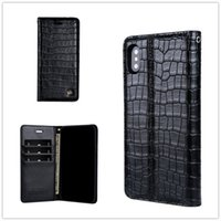 Wholesale iphone crocodile leather - Top quality Crocodile Wallet Case Leather Pouch Case For Iphone 8 I7 PLUS 6 6S Samsung S8 Snake Stand Card Skin Cover