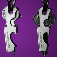 Wholesale Gadget Boy - 8 in 1 Bottle Opener Keychain Gadget Multi-function Outdoor Hanging Buckle Key Clip Stainless Steel