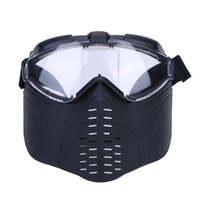 Wholesale Tactical Helmet Face Mask - Wholesale- Tactical Face Mask Black Outdoor Cycling Protective Helmet Offensive and Defensive Head Shield Masks 22 x 20 x 12cm