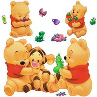 Wholesale Tigger Pooh Wall - Wholesale- Removable Wall Stickers Winnie The Pooh And Tigger Cartoon Fashion Decoration Sticker Decorative Stickers 377