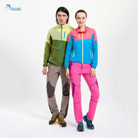 Wholesale Coating Mosaic - Wholesale-Outdoor Sport Men And Women Coat Couple Models Sun-protective Mosaic Breathable Windproof Clothing Best Selling