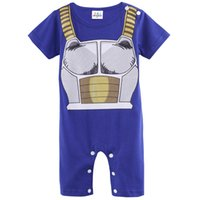 Wholesale Cute Infant Halloween Costumes - Baby Boys Dragon Ball Z Funny Costume Vegeta Cute Romper Short Sleeve Infant Casual Playsuit Party Onesie 100% Cotton