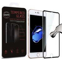 Wholesale Thinnest Titanium Iphone Cover - Tempered Glass Full Cover Screen protector Ultra-Thin 9H 3D Curved Edge Titanium Alloy Design For iphone 8 7 plus 6s 6 plus 5 5s With box