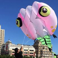 drachen lichter großhandel-3D 8qm Licht hellrosa 1 Line Stunt Parafoil Wizard Kaulquappe POWER Sport Kite Outdoor-Spielzeug
