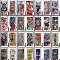 Vente en gros 170 styles Tattoo Sleeves Arm Wearmers Cycling Protective Cool Anti UV Arm Midings Tattoo Wears Fishing Driving Sleeves 1000PCS