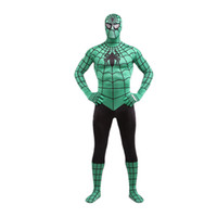 Brand New 2017 Black and Green Superhero Spider-man Cosplay Bodysuit Sexy Costume Lycra Spandex Полный комплект для тела Zentai