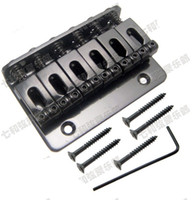 Guitar Parts A Set Black Top Load 6 cuerdas Saddle Guitar Bridge para Guitarra eléctrica Accesorios para instrumentos musicales