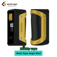 Wholesale Ups Battery Wholesale - Geekvape Aegis TC Box Mod UP to 100W without Battery Quick Firing Waterproof Geek Vape Mod 100% Original