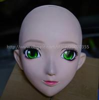 Wholesale japanese anime silicone dolls - Japanese KIG Kigurumi Transsexuals Beauty Makeup Cosplay Silicone Half Head Mask Anime Kigurumi Masks Crossdresser Doll