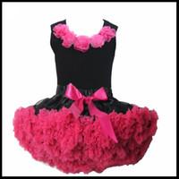 Wholesale Girls Petti Skirt Sets - Flower Petti Skirts Suits Children Baby Girls Skirt Set A Top and A Skirt