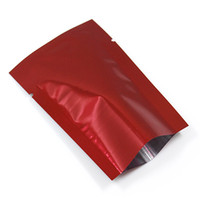 Wholesale Packing Nuts - 400Pcs Lot Red Aluminum Foil Vacuum Open Top Food Storage Package Bags For Nuts Snacks Tea Packing Heat Seal Mylar Pack Pouches Bag