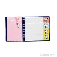 Divertente Sticker Messaggio Bookmark Point Marker Memo Bandiere Sticky Notes Carino Scratch Pad Colore casuale di trasporto di goccia OSS-0077