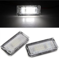 Wholesale Bmw Front License Plate - High power 2pcs White 18 LED Number License Plate Lights Lamp Bulb for BMW E46 4D 98-03