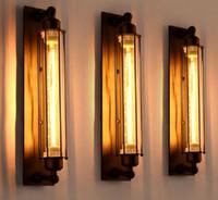 Wholesale Decorative Brackets - Loft Vintage Industrial Metal wall lamp bracket light flute decorative wall sconce